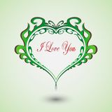 Διαμορφωμένη καρδιά με μια επιγραφή μέσα διανυσματική απεικόνιση