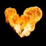 Διαμορφωμένη καρδιά βολίδα στοκ εικόνα