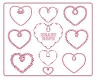 Διαμορφωμένη καρδιά συλλογή σχοινιών Στοκ εικόνα με δικαίωμα ελεύθερης χρήσης