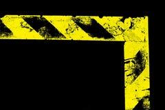 διαμορφωμένη λ προειδοποίηση λωρίδων Στοκ φωτογραφία με δικαίωμα ελεύθερης χρήσης