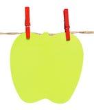 Διαμορφωμένη σημειωματάριο ένωση μήλων από ένα σχοινί Στοκ Εικόνες