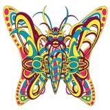 Διαμορφωμένη φανταστική πεταλούδα πλασμάτων Στοκ φωτογραφία με δικαίωμα ελεύθερης χρήσης