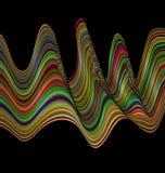 Διαμορφωμένη χρώμα εικόνα των κυμάτων Στοκ φωτογραφία με δικαίωμα ελεύθερης χρήσης