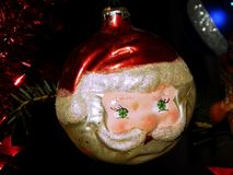 Διαμορφωμένη Santa διακόσμηση Χριστουγέννων Στοκ Εικόνα