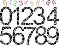 Διαμορφωμένοι χρωματισμένοι αριθμοί Στοκ Εικόνα