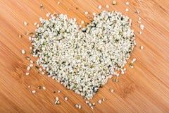 Διαμορφωμένος καρδιά σωρός των καρδιών κάνναβης στοκ φωτογραφίες
