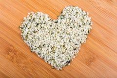 Διαμορφωμένος καρδιά σωρός των καρδιών κάνναβης στοκ εικόνα