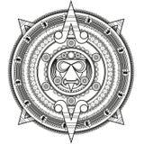 Διαμορφωμένος κύκλος στο ύφος της Maya Στοκ εικόνα με δικαίωμα ελεύθερης χρήσης
