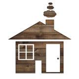 Διαμορφωμένο έγγραφο σπίτι σε ένα υπόβαθρο του καφετιού ξύλου Στοκ εικόνα με δικαίωμα ελεύθερης χρήσης