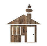 Διαμορφωμένο έγγραφο σπίτι σε ένα υπόβαθρο του καφετιού ξύλου Στοκ Εικόνα