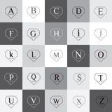 Διαμορφωμένο διαμάντι σύνολο λογότυπων αλφάβητου διανυσματικό Στοκ Εικόνες