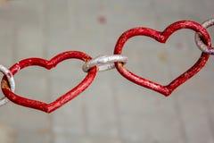 Διαμορφωμένο καρδιά λουκέτο αγάπης - όμορφη συνήθεια ημέρας γάμου πεδίο βάθους ρηχό στοκ εικόνα