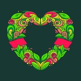 διαμορφωμένο καρδιά στεφά Στοκ Φωτογραφία