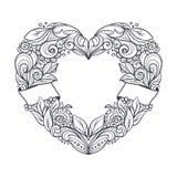 διαμορφωμένο καρδιά στεφά Στοκ φωτογραφία με δικαίωμα ελεύθερης χρήσης