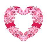 διαμορφωμένο καρδιά στεφά Στοκ Εικόνα