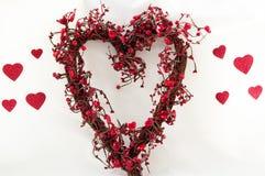 διαμορφωμένο καρδιά στεφά Στοκ φωτογραφίες με δικαίωμα ελεύθερης χρήσης