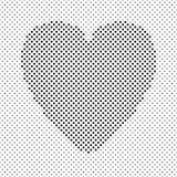 Διαμορφωμένο καρδιά σχέδιο υποβάθρου από τα μαύρα σημεία στοκ εικόνα