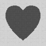 Διαμορφωμένο καρδιά υπόβαθρο - διανυσματικό σχέδιο για την ημέρα του βαλεντίνου στοκ φωτογραφίες με δικαίωμα ελεύθερης χρήσης
