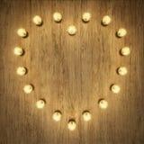 Διαμορφωμένο καρδιά ελαφρύ ντεκόρ Στοκ εικόνες με δικαίωμα ελεύθερης χρήσης