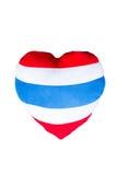 Διαμορφωμένο καρδιά μαξιλάρι Στοκ Φωτογραφίες