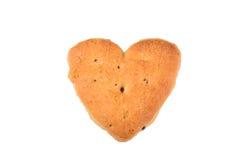 Διαμορφωμένο καρδιά μπισκότο Στοκ Φωτογραφίες