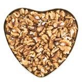 Διαμορφωμένο καρδιά σύνολο κιβωτίων των ξύλων καρυδιάς Στοκ φωτογραφία με δικαίωμα ελεύθερης χρήσης
