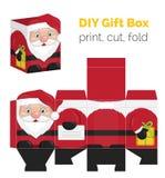Διαμορφωμένο κιβώτιο δώρων Χριστουγέννων DIY santa απεικόνιση αποθεμάτων