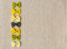 Διαμορφωμένο κορδέλλα υπόβαθρο σύστασης ζυμαρικών αφηρημένο Στοκ εικόνες με δικαίωμα ελεύθερης χρήσης