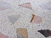 Διαμορφωμένο μάρμαρο πάτωμα βεράντας σύστασης, γυαλισμένο υπόβαθρο σχεδίων πετρών Στοκ εικόνα με δικαίωμα ελεύθερης χρήσης