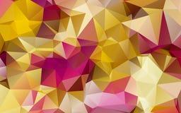 Διαμορφωμένο περίληψη υπόβαθρο τριγώνων Στοκ Φωτογραφία