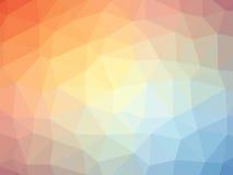 Διαμορφωμένο πολύγωνο υπόβαθρο κλίσης ουράνιων τόξων πορτοκαλί μπλε Στοκ Φωτογραφία