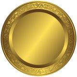 διαμορφωμένο χρυσό παλαιό πιάτο Στοκ Εικόνες