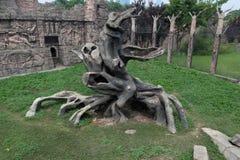 Διαμορφώνω-των Μάγια πολιτισμός κολοβωμάτων δέντρων και ινδική φυλή στη γωνία mexi-α του parkco Στοκ εικόνες με δικαίωμα ελεύθερης χρήσης