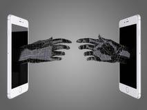Διανείμετε του έξυπνου τηλεφώνου Στοκ εικόνες με δικαίωμα ελεύθερης χρήσης