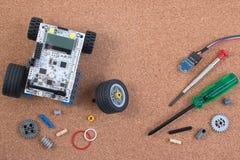 Διανοητική εξάρτηση συνελεύσεων παιχνιδιών ρομπότ ανάπτυξης DIY στοκ φωτογραφίες με δικαίωμα ελεύθερης χρήσης