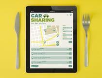Διανομή αυτοκινήτων προγευμάτων ταμπλετών Στοκ εικόνες με δικαίωμα ελεύθερης χρήσης