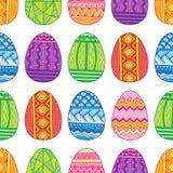 Διανυσματικά άνευ ραφής αυγά Πάσχας σχεδίων φωτεινά Στοκ Φωτογραφία