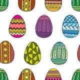 Διανυσματικά άνευ ραφής αυγά Πάσχας σχεδίων φωτεινά Στοκ φωτογραφίες με δικαίωμα ελεύθερης χρήσης