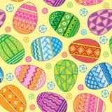 Διανυσματικά άνευ ραφής αυγά Πάσχας σχεδίων φωτεινά Στοκ εικόνες με δικαίωμα ελεύθερης χρήσης