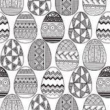 Διανυσματικά άνευ ραφής αυγά Πάσχας σχεδίων Στοκ Εικόνες