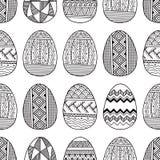 Διανυσματικά άνευ ραφής αυγά Πάσχας σχεδίων Στοκ Εικόνα