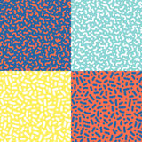 Διανυσματικά άνευ ραφής σχέδια με τα γεωμετρικά στοιχεία στο ύφος Στοκ φωτογραφίες με δικαίωμα ελεύθερης χρήσης