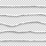 Διανυσματικά άνευ ραφής σχισμένα έγγραφα καθορισμένα Στοκ Φωτογραφία