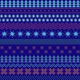 Διανυσματικά άνευ ραφής χειμερινά Χριστούγεννα και νέο υπόβαθρο έτους Στοκ Εικόνες