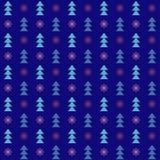 Διανυσματικά άνευ ραφής χειμερινά Χριστούγεννα και νέο υπόβαθρο έτους Στοκ Φωτογραφίες