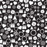 Διανυσματικά άνευ ραφής Χριστούγεννα και νέο σχέδιο έτους Στοκ Φωτογραφίες