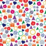 Διανυσματικά άνευ ραφής Χριστούγεννα και νέο σχέδιο έτους Στοκ Εικόνα