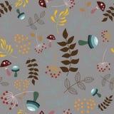 Διανυσματικά άνευ ραφής floral στοιχεία σχεδίων Στοκ εικόνες με δικαίωμα ελεύθερης χρήσης
