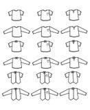 Διανυσματικά άσπρα πουκάμισα Στοκ φωτογραφία με δικαίωμα ελεύθερης χρήσης