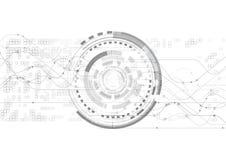 Διανυσματικά άσπρα στοιχεία επικοινωνίας τεχνολογίας υποβάθρου αφηρημένα Στοκ Φωτογραφίες